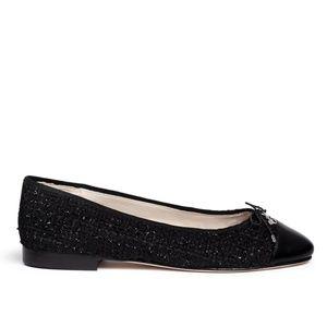 NWOT Sam Edelman Pointy Toe Tweed Black Flats